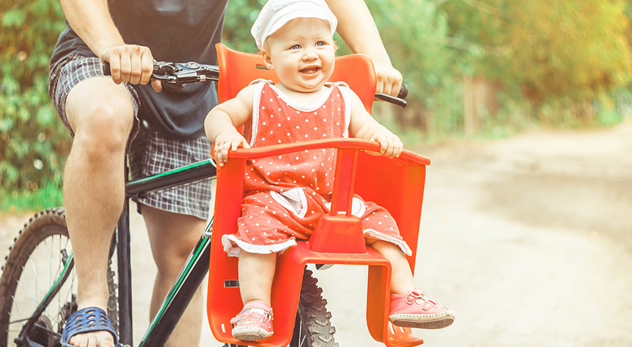Frontmonterad cykelsits